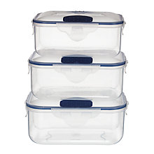Buy John Lewis Lock'N'Seal Storage Container, Set of 3 Online at johnlewis.com