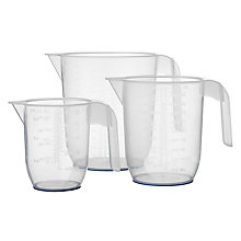 Buy John Lewis Measuring Jugs, Set of 3, Clear Online at johnlewis.com