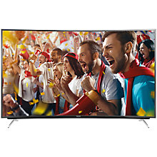 "Buy Panasonic Viera TX-65CR730B LED Curved 4K Ultra HD Smart TV, 65"" with Freeview HD/freetime and Built-In Wi-Fi Online at johnlewis.com"