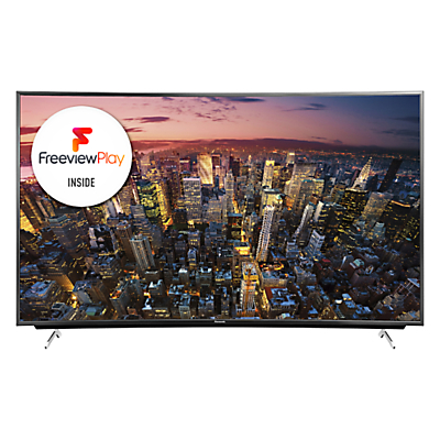 Panasonic Viera TX-55CR730B LED Curved 4K Ultra HD Smart TV, 55 with Freeview HD/freetime and Built-In Wi-Fi