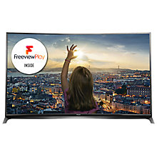 "Buy Panasonic Viera TX-65CR852B LED Curved 4K 3D Smart TV, 65"" with Freeview HD/freesat HD and Built-In Wi-Fi Online at johnlewis.com"