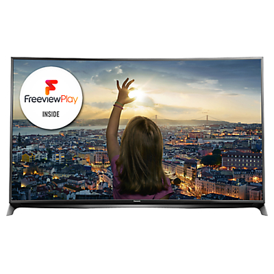 Panasonic Viera TX-55CR852B LED Curved 4K 3D Smart TV, 55 with Freeview HD/freesat HD and Built-In Wi-Fi