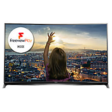 "Buy Panasonic Viera TX-55CR852B LED Curved 4K 3D Smart TV, 55"" with Freeview HD/freesat HD and Built-In with Monster HDMI Cable Online at johnlewis.com"