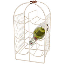 Buy T&G Provence 6-bottle Wine Rack, Cream Online at johnlewis.com