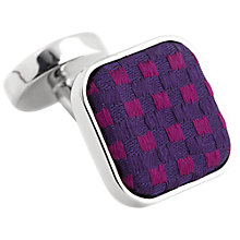 Buy Thomas Pink Warren Woven Silk Cufflinks, Purple/Blue Online at johnlewis.com