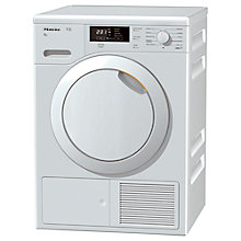 Buy Miele TKB 340 WP Heat Pump Tumble Dryer, 8kg Load, A+ Energy Rating, White Online at johnlewis.com