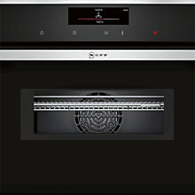 Buy Neff C18MT36N0B Built-In Combination Microwave Oven, Stainless Steel Online at johnlewis.com
