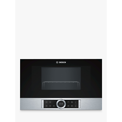 Bosch BEL634GS1B Built-In Microwave Oven with Grill, Black / Stainless Steel