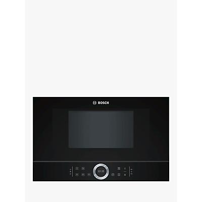Image of Bosch Serie 8 BFL634GB1B Built-In Microwave, Black