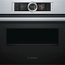 Buy Bosch CMG656BS1B Built-In Combination Microwave Oven, Stainless Steel Online at johnlewis.com