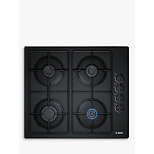 Buy Bosch Serie 2 POP6B6B80 Gas Hob, Black Glass Online at johnlewis.com