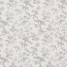 Buy John Lewis Botanica Bird Fabric, French Grey Online at johnlewis.com