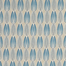 Buy John Lewis Alora Furnishing Fabric, Blue Online at johnlewis.com