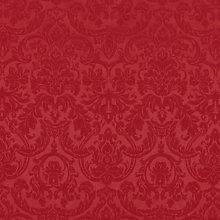 Buy John Lewis Damask Weave Acrylic Coated Tablecloth Fabric, Red Online at johnlewis.com