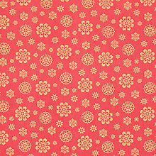 Buy John Lewis Christmas Snowflake PVC Tablecloth Fabric, Red / Gold Online at johnlewis.com