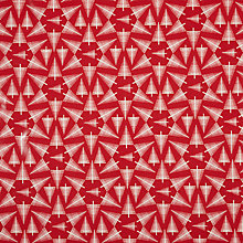Buy John Lewis Christmas Tree Burst PVC Tablecloth Fabric, Red Online at johnlewis.com