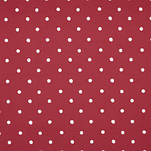 Buy John Lewis Ada PVC Tablecloth Fabric, Cranberry Online at johnlewis.com
