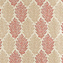 Buy John Lewis Bracken Leaf Fabric, Red Online at johnlewis.com
