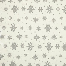 Buy John Lewis Christmas Snowflake PVC Tablecloth Fabric, Silver Online at johnlewis.com