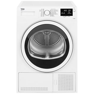 Image of Beko DCJ83133W Condenser Tumble Dryer, 8kg Load, B Energy Rating, White