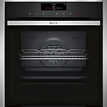 Buy Neff B58VT28N0B VarioSteam® Pyrolytic Slide and Hide Single Electric Oven, Stainless Steel Online at johnlewis.com