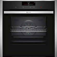 Buy Neff B58CT28N0B Built-In Single Electric Oven, Stainless Steel Online at johnlewis.com