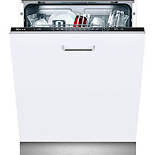 Buy Neff S51E60X0GB Integrated Dishwasher, Black Facia Online at johnlewis.com