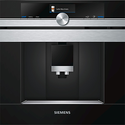 Siemens CT636LES1 Automatic BeantoCup Coffee Centre Stainless Steel