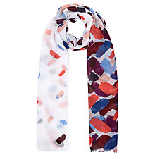 Buy John Lewis Lipstick Print Scarf, Purple Online at johnlewis.com