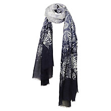 Buy Fat Face Ombre Butterfly Scarf, Blue Online at johnlewis.com