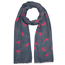Buy John Lewis Cotton Mix Dragonfly Scarf, Pink Online at johnlewis.com