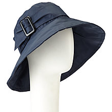 Buy John Lewis Down Brim Buckle Rain Hat, Navy Online at johnlewis.com