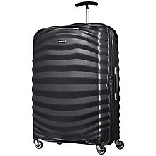Buy Samsonite Lite-Shock 4-Wheel 75cm Large Suitcase, Black + SAVE 50% Extra On Large Case Online at johnlewis.com