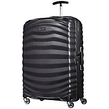 Buy Samsonite Lite-Shock 4-Wheel 69cm Medium Suitcase, Black + SAVE 50% Extra On Medium Case Online at johnlewis.com