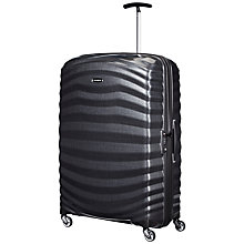 Buy Samsonite Lite-Shock Spinner 4-Wheel 82cm Suitcase Online at johnlewis.com