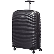 Buy Samsonite Lite-Shock 4-Wheel 55cm Cabin Suitcase, Black + SAVE 50% On Extra Cabin Case Online at johnlewis.com