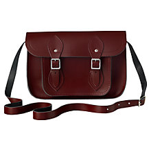 "Buy The Cambridge Satchel Company 11"" Classic Leather Satchel Bag, Oxblood Online at johnlewis.com"