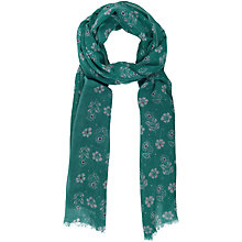 Buy Seasalt Autumn Woodcut Printed Scarf, Jade Online at johnlewis.com