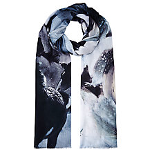 Buy Fay Et Fille Galloping Horse Print Scarf, Blue Online at johnlewis.com