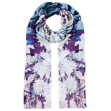 Buy Faye Et Fille Mirror Butterfly Print Scarf, Blue Online at johnlewis.com