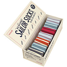 Buy Seasalt Box O Socks Wenford Breton Stripe Ankle Socks, Pack of 7, Multi Online at johnlewis.com