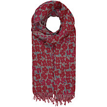 Buy Seasalt Awakening Lizzie Cotton Scarf, Bordeaux Online at johnlewis.com