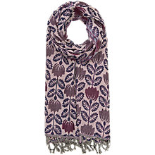 Buy Seasalt Awakening Tulip Shawl, Purple Online at johnlewis.com