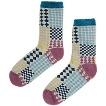 Buy Seasalt Cabin Mosaic Ankle Socks, Blue/Multi Online at johnlewis.com