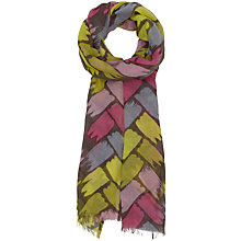 Buy Seasalt Pretty Brushed Chevron Print Cotton Scarf, Taupe/Multi Online at johnlewis.com