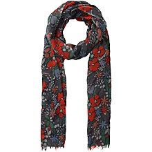 Buy Seasalt Pretty Kayes Floral Scarf, Navy/Multi Online at johnlewis.com