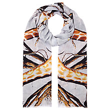 Buy Faye Et Fille Mirror Giraffe Print Scarf, Brown Online at johnlewis.com