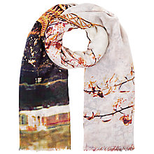 Buy Faye Et Fille Paris Print Square Scarf, Multi Online at johnlewis.com