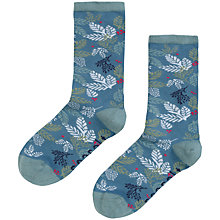 Buy Seasalt Floral Ankle Socks, Pack of 1, Blue Online at johnlewis.com