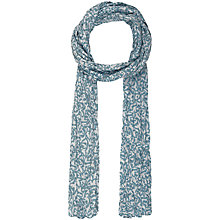 Buy Seasalt Everyday Birds Garfish Cotton Scarf, Teal Online at johnlewis.com